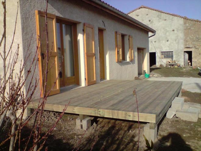 terrasse pin traite classe 4. Black Bedroom Furniture Sets. Home Design Ideas