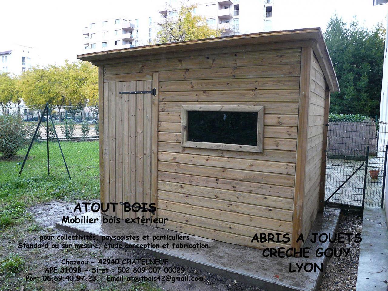 Abris a jouets en pin traite autoclave classe 4 cr che gouy lyon - Abri de jardin bois autoclave classe 4 ...