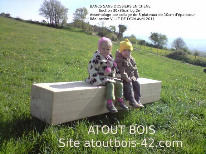 BANC SANS DOSSIER EN CHENE NATURELLEMENT DURABLE