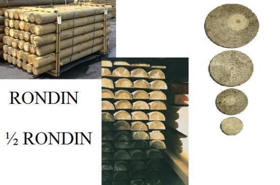 Rondin ; 1/2 Rondin