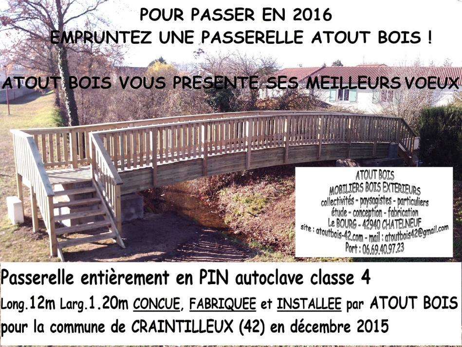 Atout bois voeux passerelle 2016